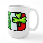 Ireland Flag Shamrock Large Mug