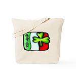 Ireland Flag Shamrock Tote Bag
