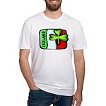 Ireland Flag Shamrock Fitted T-Shirt