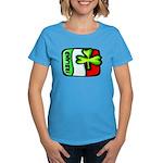 Ireland Flag Shamrock Women's Dark T-Shirt