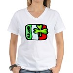 Ireland Flag Shamrock Women's V-Neck T-Shirt