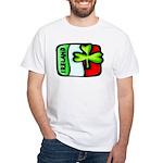 Ireland Flag Shamrock White T-Shirt