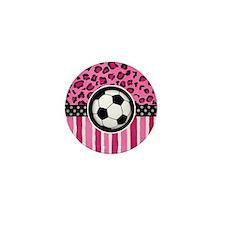 cheetah soccer Mini Button