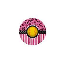 cheetah softball Mini Button