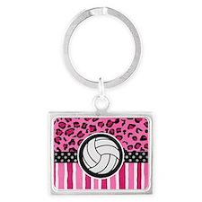 cheetah volleyball Landscape Keychain