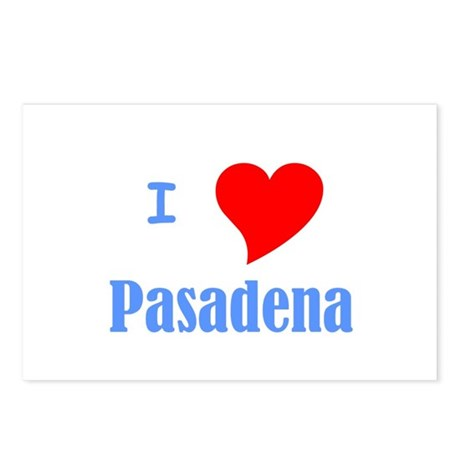 I Love Pasadena Postcards (Package of 8)