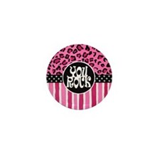 Cheetah You ROCK Mini Button
