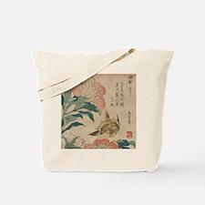 Hokusai Peony and Canary 1 Tote Bag