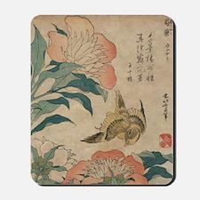 Hokusai Peony and Canary 2 Mousepad