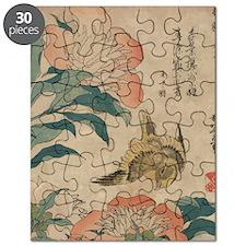 Hokusai Peony and Canary 2 Puzzle