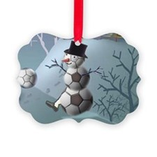 Soccer Snowman Christmas Sports L Ornament