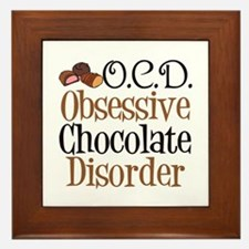 Cute Chocolate Framed Tile
