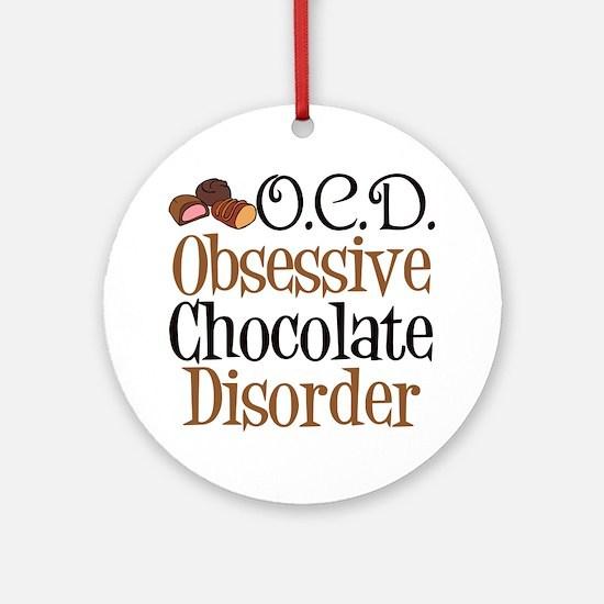 Cute Chocolate Ornament (Round)