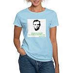 Abraham Lincoln Women's Pink T-Shirt