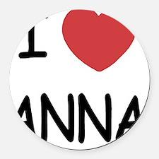 ANNA Round Car Magnet