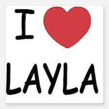 "LAYLA Square Car Magnet 3"" x 3"""