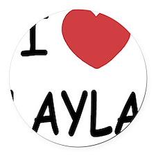 LAYLA Round Car Magnet