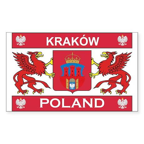 Krakow Rectangle Sticker