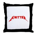 Rock and Roll Knitter Throw Pillow