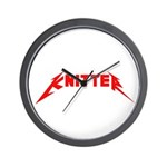 Rock and Roll Knitter Wall Clock