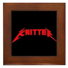 Rock and Roll Knitter Framed Tile