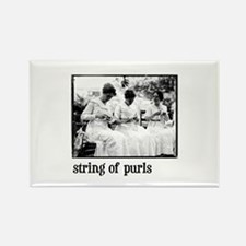 String of Purls Rectangle Magnet