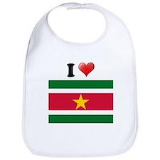 I love Suriname Flag Bib