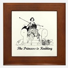 The Princess is Knitting Framed Tile