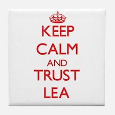 Keep Calm and TRUST Lea Tile Coaster