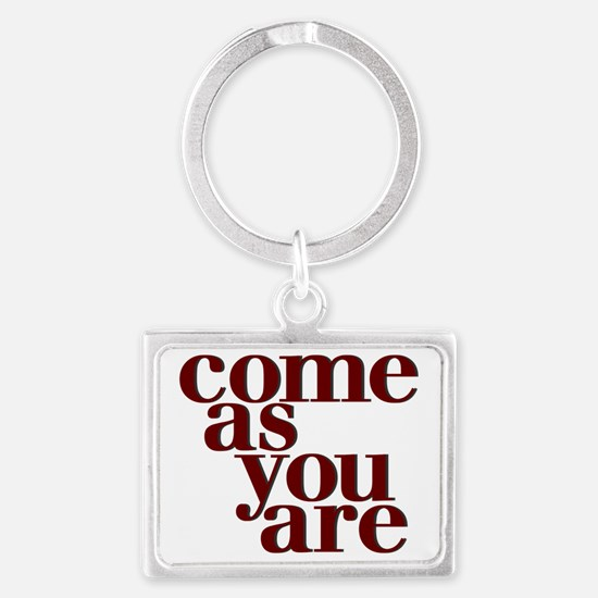 Come as you are teeshirt Landscape Keychain