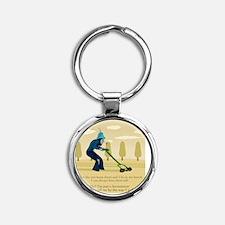 Lawnmower Round Keychain
