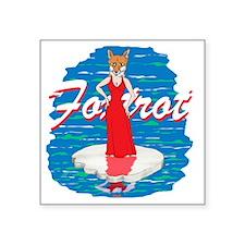 "Foxtrot Square Sticker 3"" x 3"""