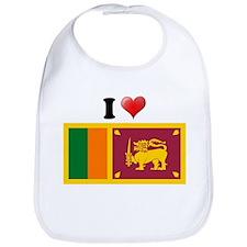 I love Sri Lanka Flag Bib