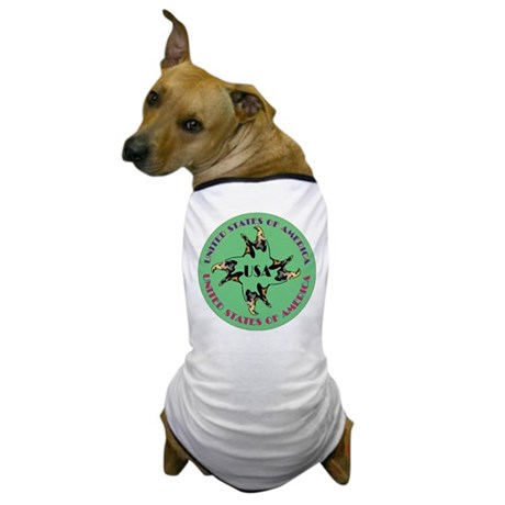 USA Four Eagles Dog T-Shirt
