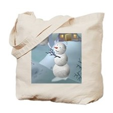 Volleyball Snowman Sports Christmas Tote Bag