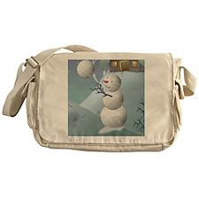 Volleyball Snowman Sports Christmas Messenger Bag