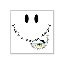 """Its-A-Beach-Day-Wildwood,-N Square Sticker 3"""" x 3"""""""