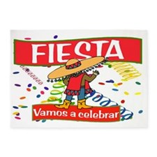 fiesta cowboy Spanish H 5'x7'Area Rug
