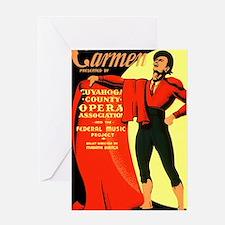 Carmen Opera Poster Greeting Card