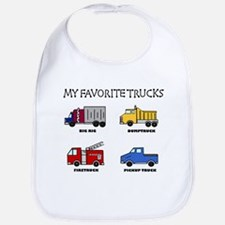 My Favorite Trucks Bib