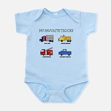 My Favorite Trucks Infant Bodysuit