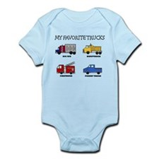 My Favorite Trucks Onesie