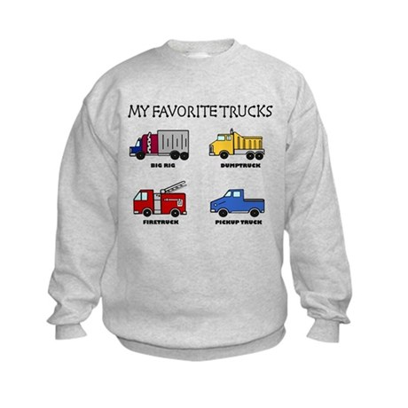 My Favorite Trucks Kids Sweatshirt