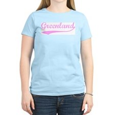 Vintage Greenland (Pink) T-Shirt