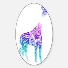 Purple and Blue Gradient Giraffe Decal