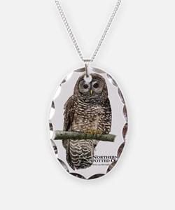 Northern Spotted Owl Necklace