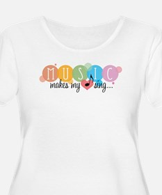 Music Makes My Heart Sing Plus Size T-Shirt