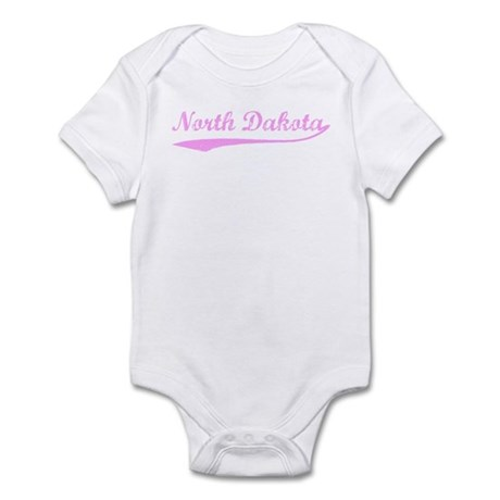 Vintage North Dakota (Pink) Infant Bodysuit
