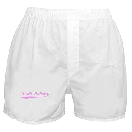 Vintage North Dakota (Pink) Boxer Shorts