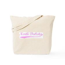 Vintage North Dakota (Pink) Tote Bag